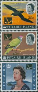 Pitcairn Islands 1967 SG79-81 Birds QEII MLH