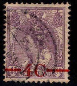 Netherlands Scott 106 used surcharged stamp,