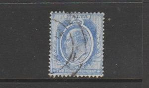 Malta 1904/14 2 1/2d Blue FU SG 53