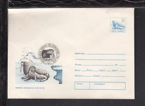 Romania Walrus Postal Envelope Unused