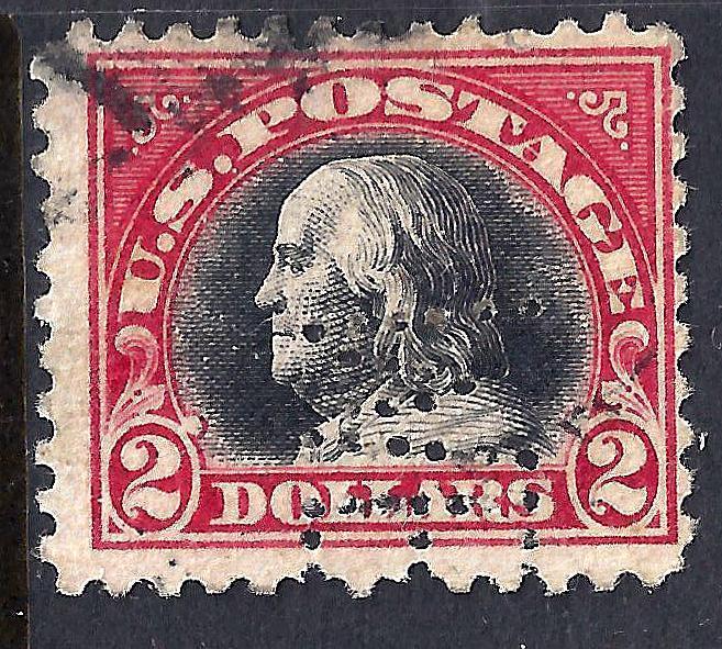 U.S. 547 Used F Perfin (40817)