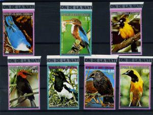 Equatorial Guinea 1978 EXOTIC BIRDS set of (7v) Perforated Mint (NH)