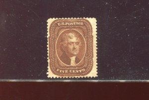 Scott 30 Jefferson Orange Brown Type II Used  Stamp  (Stock 30-A1)