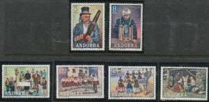 Andorra - Spanish Issues 69-74 MNH (1972)