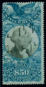 US #R131 $50.00 Documentary, used, scarce stamp, Scott $1,200.00