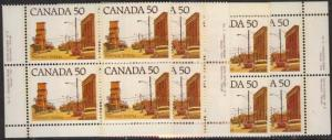Canada USC #723A&723Aiii - 50c Prairie Street Scene - MS PLate 2 VF-NH-NH