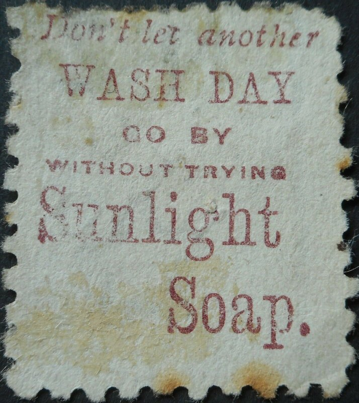 New Zealand 1893 3d with Sunlight Soap advert SG 221f used