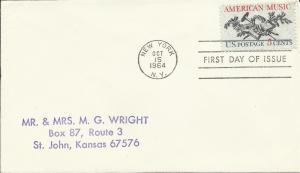 United States 1964 Scott# 1252 FDC