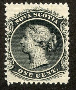 Nova Scotia, Scott #8, Unused, Hinged