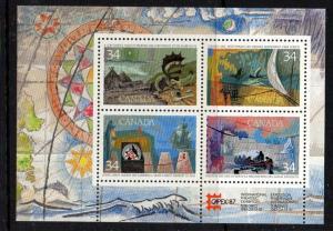 Canada Sc 1107b 1986 Explorers CAPEX '87 stamp sheet mint NH