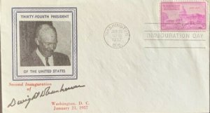 Inauguration Day January 21, 1957 Dwight Eisenhower Geo Washington Masonic Club