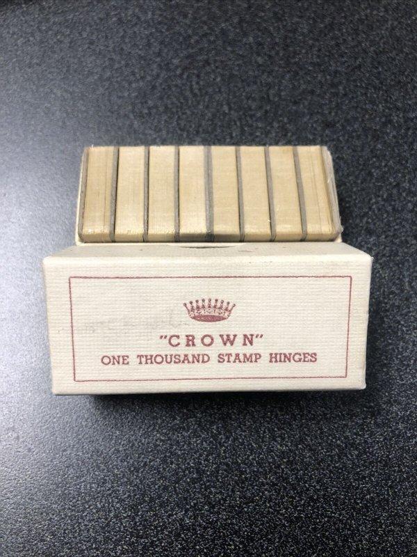 1000 Crown stamp hinges