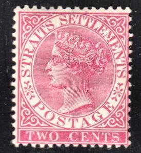 Malaya Straits Settlements Scott 41  wtmk CA  F+  mint OG H.