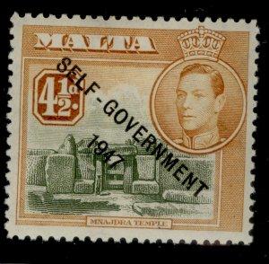 MALTA GVI SG241, 4½d olive-green & yellow-brown, M MINT.