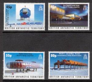 BRITISH ANTARCTIC 2005 Research Station Designs; Scott 357-60, SG 411-14; MNH