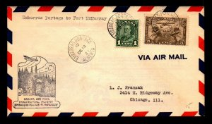 Canada 1931 FFC Embarras Portage to Ft McMurray - L7964