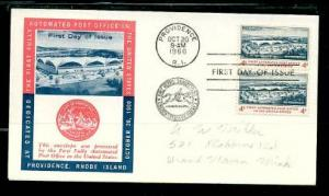 #1164  1st Automated Post Office Pair FDC