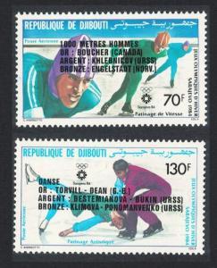Djibouti Winter Olympic Games Medal Winners 1984 MNH SG#909-910