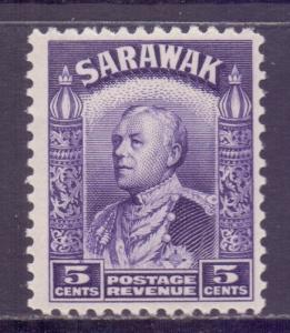 Sarawak Scott 115 - SG110, 1934 Sir Charles Vyner Brooke 5c MNH**