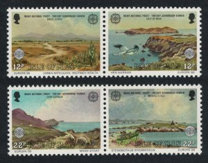 Isle of Man Orchids Harrier Birds Stoat Nature conservation Europa CEPT 4v