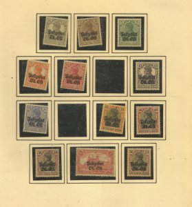 BELGIUM UNDER GERMAN OCCUPATION COLLECTION, ALL MINT