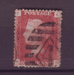 J17594 JLstamps 1864 great britain used pl.129 #33 queen
