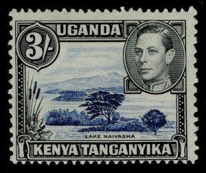 KENYA UGANDA TANGANYIKA GVI SG147a, 3s deep violet-blue & black M MINT. Cat £85.