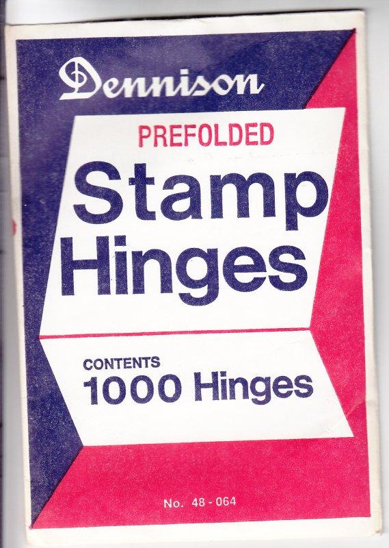 Dennison Prefolded Stamp Hinges, Unopened (S18563)