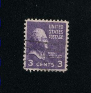 USA #807  1 used 1938 -1954 PD .08