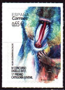 Spain. 2017. 5231. Hamadryl, monkey, fauna. MNH.
