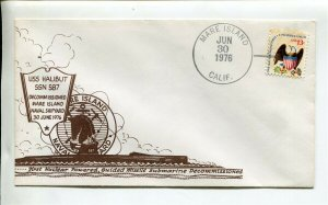 USS HALIBUT (SSBN 587) Nuclear Submarine Naval Cover - GREAT CACHET