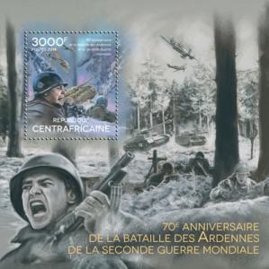 CENTRAFRICAINE 2014 SHEET BATTLE OF THE BULGE WORLD WAR WWII