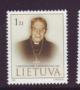 Lithuania Sc 751 2003 Cardinal Sladkevicius  stamp mint NH