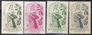 El Salvador, Sc C169-C172, MNH, 1955, Coffee Picker