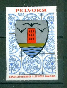 Denmark. Poster Stamp. South Slesvig. Coats Of Arms Town: Pelvorm