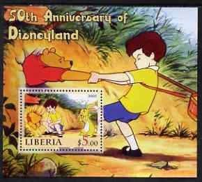 Liberia 2005 50th Anniversary of Disneyland #04 (Pooh) pe...