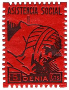 (I.B) Spain Civil War Cinderella : War Charity 5c (Denia)