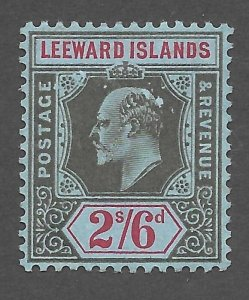 Doyle's_Stamps: 1911 MH Leeward Islands King Edward VII 2/6 Shilling, Scott #39*