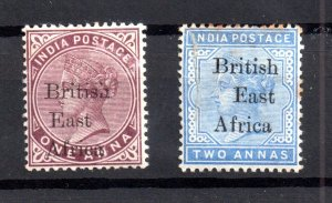 British East Africa 1895 1A & 2 1/2A mint average WS17243