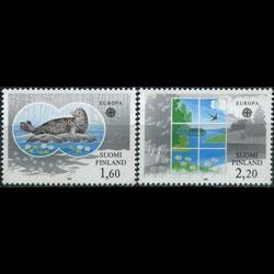 FINLAND 1986 - Scott# 735-6 Europa-Nature Set of 2 NH