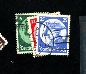 GERMANY #398-400 USED F-VF Cat $25