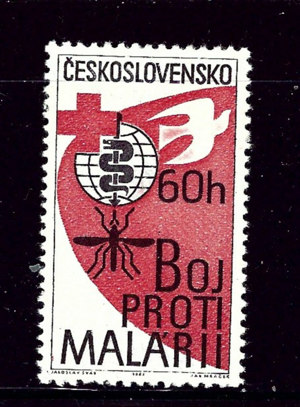 Czechoslovakia 1121 MLH 1962 Fight Malaria