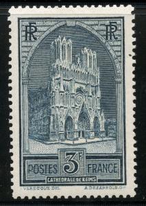 FRANCE  SCOTT#304 REIMS CATHEDRAL  MINT LIGHT HINGED--SCOTT VALUE $62.50