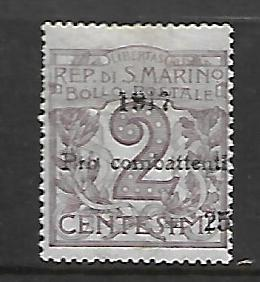 SAN MARINO, B1, MINT HINGED, NUMERIC POST