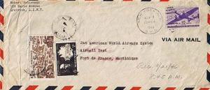 Martinique U.S. 10c Transport 1946 New York, N.Y. G.P.O. Pan Am Test Flight t...