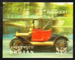 Bhutan 3-D Antique Automobiles 1971 (Ford) Scott# 128 MNH