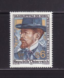 Austria 1484 Set MNH Alfred Fried, Pacifist and Publisher (A