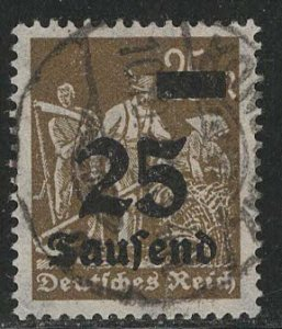 Germany Reich Scott # 247, used, exp h/s