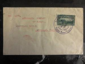 1931 Sta Rosa Honduras Cover To Insurance Co Of Canada In Montreal