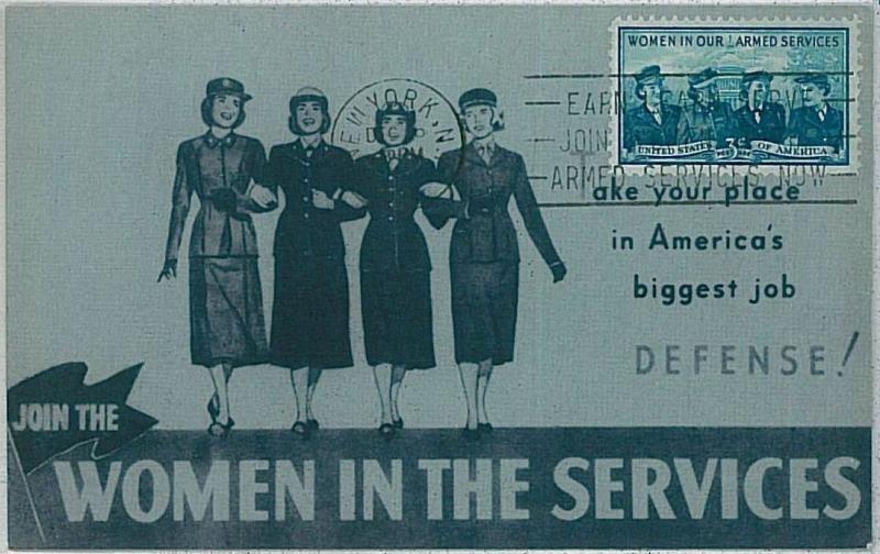 MAXIMUM CARD - MILITARY UNIFORMS : USA - WOMEN IN THE SERVICE